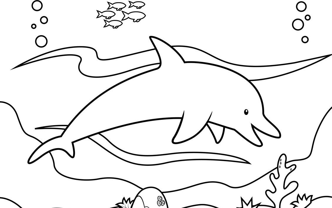 Dibujos Infantiles De Delfines Para Colorear