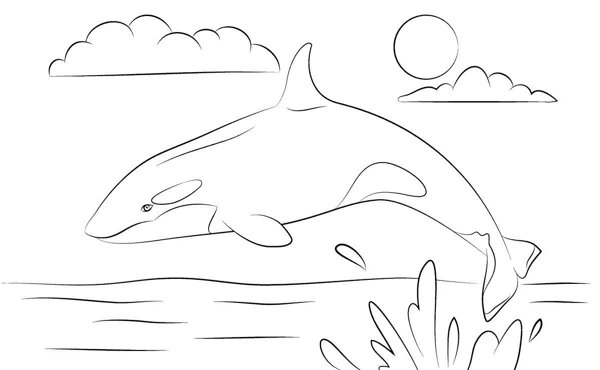 dibujos infantiles de orcas para colorear. Black Bedroom Furniture Sets. Home Design Ideas