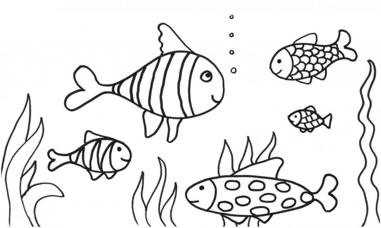 Bonito Peces De Agua Salada Para Colorear Imagen - Dibujos Para ...