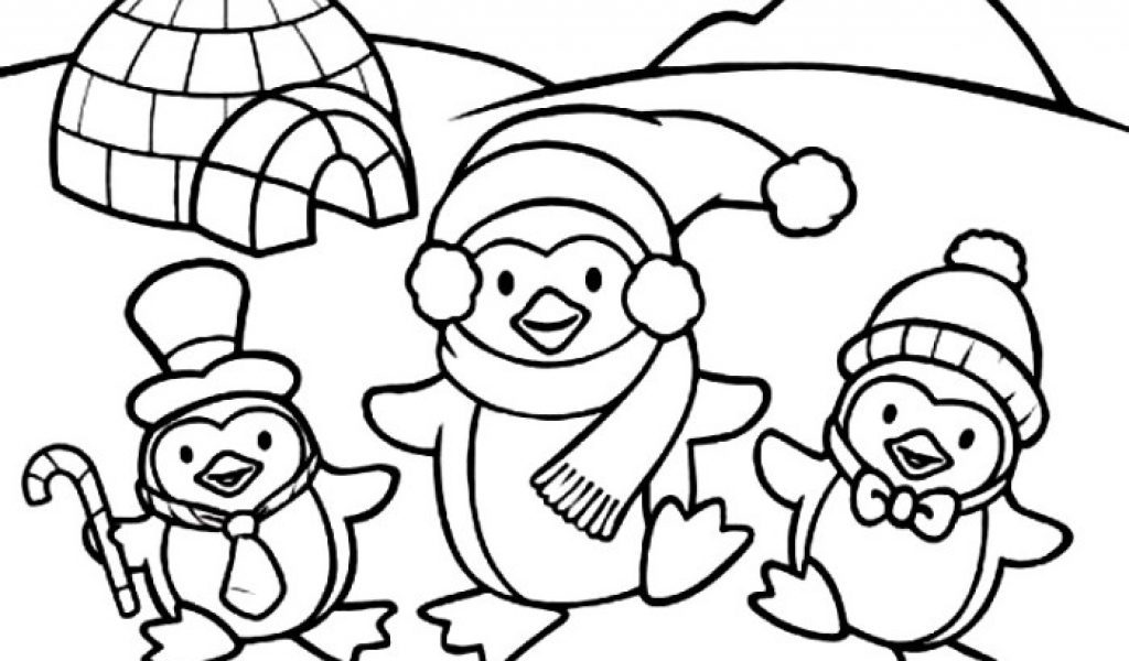 Dibujos infantiles de pingüinos para colorear :: Imágenes y fotos